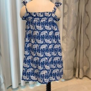 "Summer ""elephant"" dress in cobalt blue & white"
